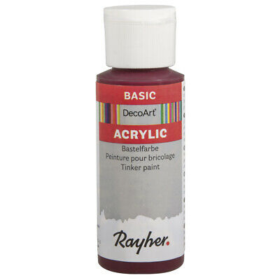 Acrylic Paint Red Burgundy 59 ML - DecoArt • 12.79£