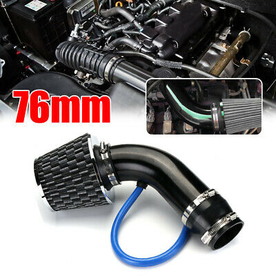 AU53.62 • Buy 76mm Universal Car Cold Air Intake Filter Induction Pipe Power Flow Hose System