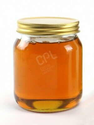 £34.50 • Buy 1lb Glass Honey Jar With Gold Screw On Lid - FREE NEXT DAY DELIVERY