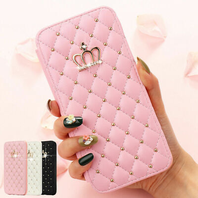 AU12.99 • Buy Crown Diamond Wallet Leather Case Flip Stand Cover For IPhone 12 Pro Max 11 XS 7