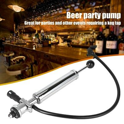Heavy Duty Party Picnic Beer Pump Draft Beer Keg Tap Stainless Steel With Silver • 38.97£