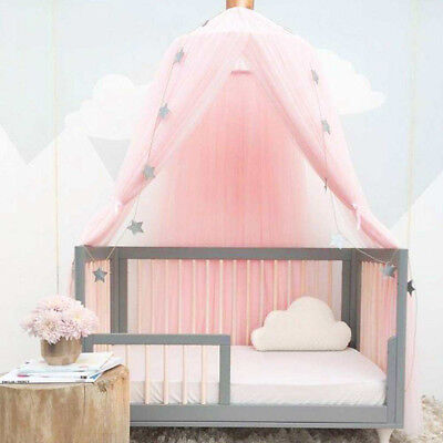 Kids Baby Bed Canopy Bedcover Mosquito Net Princess Curtain Bedding Dome Tent • 18.99£