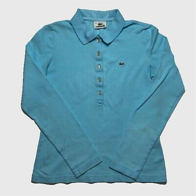 Womens Lacoste Long Sleeve Polo Shirt Small/38 Baby Blue. • 12.99£