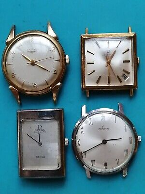 $ CDN527.26 • Buy Vintage 4 Omega + Longines+ Universal +Zenith Men's Watch For Parts Repair As Is
