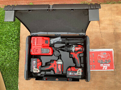 Milwaukee M18 BLPP2A2-502x 18v Twin Set Brushless Hammer Drill And Inpact Driver • 330£