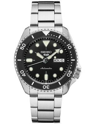$ CDN244.35 • Buy New Seiko 5 Automatic Black Dial Steel Bracelet Men's Watch SRPD55