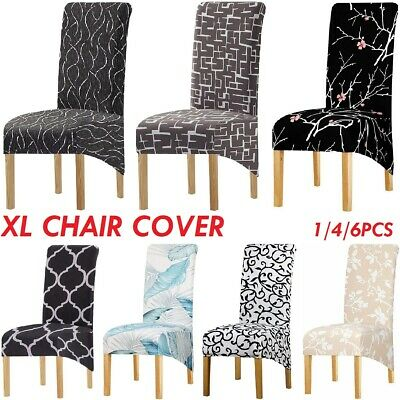 AU47.49 • Buy Dining Chair Cover Large Chair Slipcover Printing Fabric Stretch Wedding Party