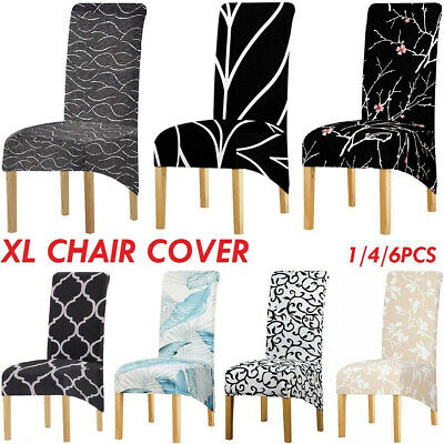 AU49.99 • Buy High Back Big Dining Chair Cover Large Chair Slipcover Printing Fabric Stretch
