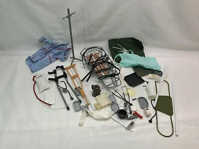 $ CDN59.18 • Buy Vintage G.I. Joe Doctor Accessory Lot - Includes Crutches, Stretcher 12  Figures