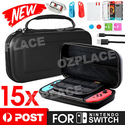 AU18.95 • Buy For Nintendo Switch Case EVA Travel Bag+Cover+Protector+Cable Accessories