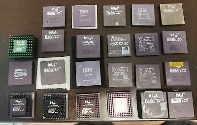 AU500 • Buy Huge Lot Of WORKING CPU For Sale (Socket 3) 486 - Perfect Pins, All 23 Tested