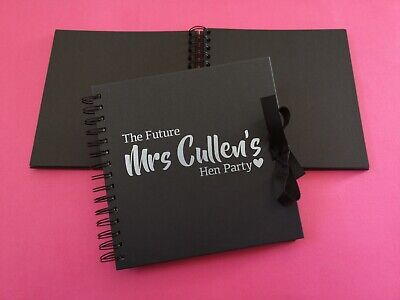 Personalised Future Mrs Scrapbook - Memory Gift Photo Album Hen Party Guest Book • 26.50£