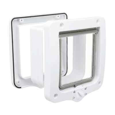 TRIXIE 4-Way Cat Flap Door With 2 Tunnels White Free Pass House Pet Supplies • 17.26£