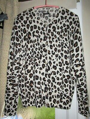 Marks And Spencer Autograph 100% Cashmere Animal Print Cardigan Size 12 • 10.70£