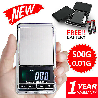 AU10.45 • Buy MINI 500g 0.01 Digtal Pocket Scales Jewellery Precision Electronic Weight Lab