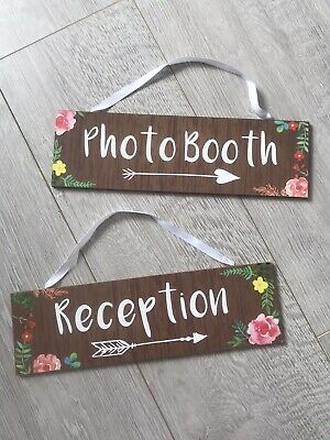 Wedding Reception And Photo Booth Arrow Signs • 0.99£