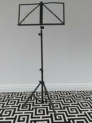Stagg Black Music Stand Folding, Extendable, Light, Barely Used + Carry Bag. • 1.40£