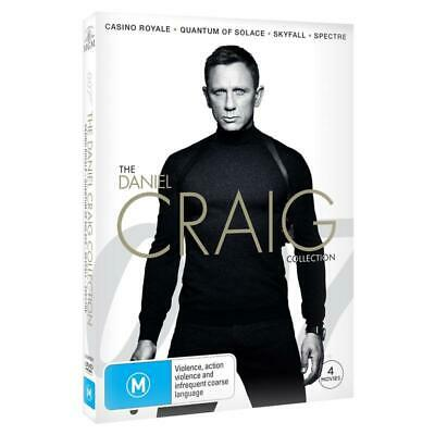 The DANIEL CRAIG Collection DVD 4-MOVIES JAMES BOND 4DISC VERY RARE BRAND NEW R4 • 27.22£