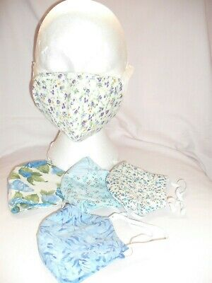 Handmade Face Masks Reversible  Breathable  Reusable Multi Pack Of 5 X 4 Ply • 20£