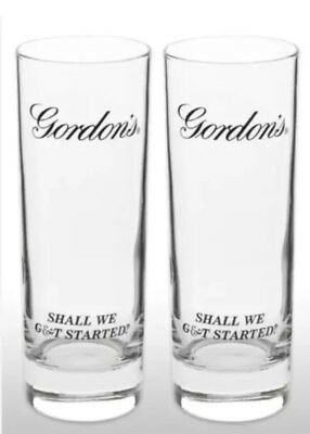 Gordon's Gin Tall Glass X2 New & Rare • 14.95£