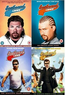 EASTBOUND AND DOWN - Complete Seasons 1 - 4 (DVD) (8 DISCS) • 14.99£