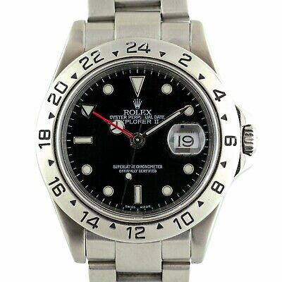 $ CDN11835.62 • Buy Rolex 16570 Explorer II Stainless Steel Black Dial Watch