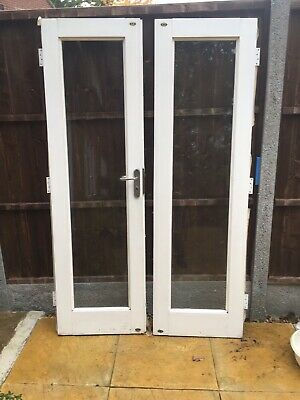 Double Interior Wooden Doors With Glass Panel • 90£