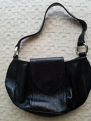 Small Black Hobbs Leather Bag • 4.99£