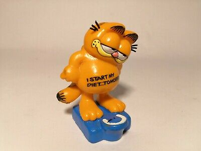 Vintage Garfield On Weight Scales Figure By Bully West Germany 1978 1981 • 7.99£