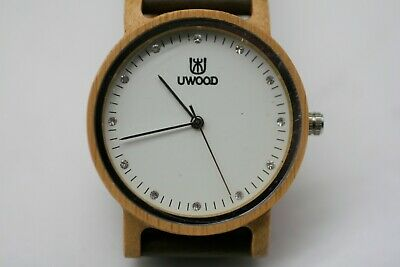 $ CDN24.98 • Buy UWOOD Mens Wooden Watches Classy Leather Band Watch Solid Wood