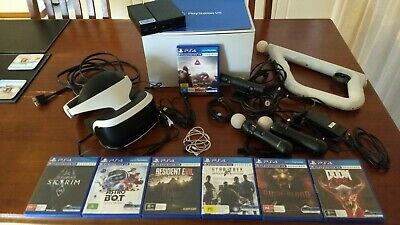 AU385 • Buy Sony PlayStation VR Headset PSVR + 2 Move & Aim Controller +  7 Games + Camera