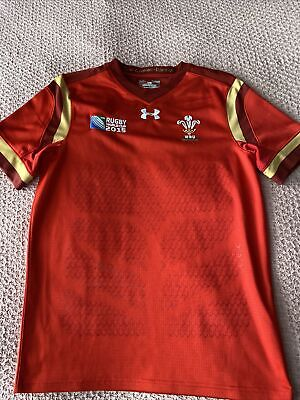 Wales Rugby Union Under Armour Rugby Shirt, Size Large Boys • 5£
