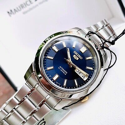 $ CDN209.91 • Buy Seiko 5 Automatic Blue  Dial Silver Stainless Steel Mens Watch  RRP £169