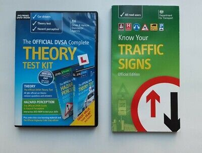 £8 • Buy DVSA Official Theory Test Kit 2015 2 DVD'S + Know Your Traffic Signs (official)