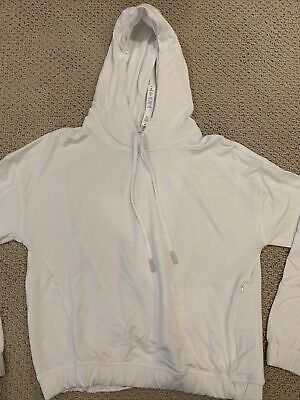 $ CDN69.03 • Buy LULULEMON: TWISTED And TUCKED Long Sleeve Pullover Hoodie - White - Size 8