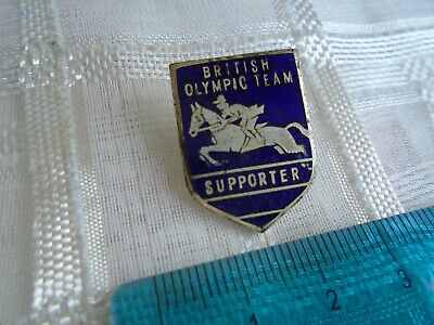 £7.50 • Buy British Olympic Team Supporter Show Jumping Vintage Lapel Pin / Badge (ref # 12)