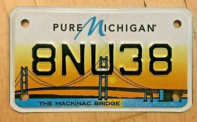 $22.99 • Buy The Mackinac Bridge Graphic Colorful Motorcycle Cycle License Plate   8 Nu 38