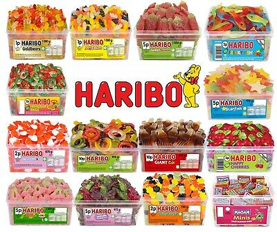 2 X Full Tubs Haribo Sweets Pick N Mix Kids Candy Box Party Favours Treats Maoam • 14.44£