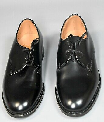 Men's Sanders Station Offices Shoes With Leather Upper & Soles, Lace Up, Black S • 25£
