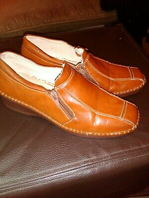 CUSHION WALK LADIES LEATHER LINED COMFORTABLE SHOES Size 5 • 4£