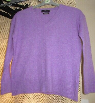 Marks And Spencer Autograph 100% Cashmere Lilac Jumper Size XS  • 4.99£