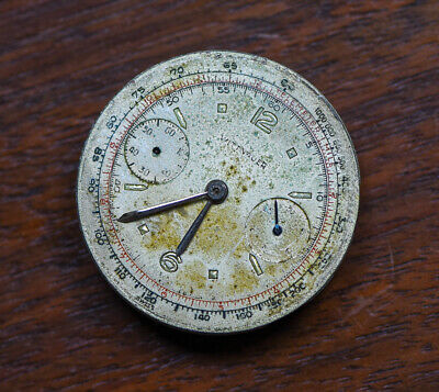 $ CDN252.45 • Buy Vintage WITTNAUER 14W Chronograph Watch Movement W/ Dial Hands TICKING As Is