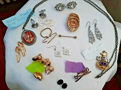 $ CDN8.01 • Buy VINTAGE JEWELRY INVENTORY SALE - *LOT* Signed EMMONS USN MONET Earrings Necklac