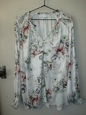 AU10.75 • Buy Pretty Witchery Sz 16 Floral Blouse - Puffy Sleeves