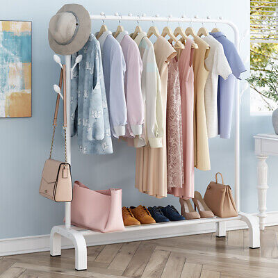 Heavy Duty Clothes Rail Rack Garment Hanging Display Stand Shoes Storage Shelves • 18.49£