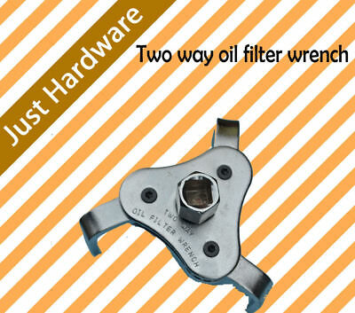 AU14.99 • Buy 2 Two Way 3 Leg Jaw Oil Filter Wrench Silver Tone Vehicle 2.5  To 4  100mm