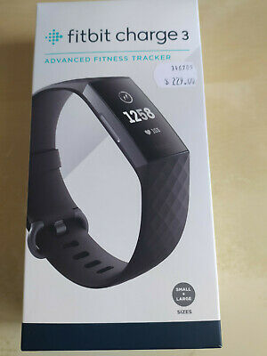 AU115 • Buy Fitbit Charge 3 - Like New, Black, With Charger, Spare Band, In Original Box