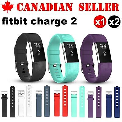 $ CDN6.99 • Buy For Fitbit Charge 2 Silicone Strap Replacement Wrist Band Wristband Metal Buckle