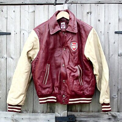 *RARE* Arsenal Varsity Baseball Leather Jacket (Kids) (RRP£150) • 0.99£