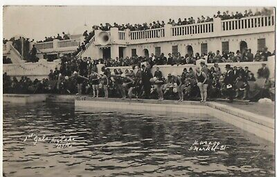 Hoylake Baths, 1st Gala,  Real Photo Postcard, H. Wragg. • 7.50£
